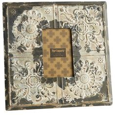 """Metal Tile Wall Frame  After watching """"Eat, Pray, Love"""" I have a deeper appreciation for worn, rustic items. I choose this for the texture, color, and paint technique."""