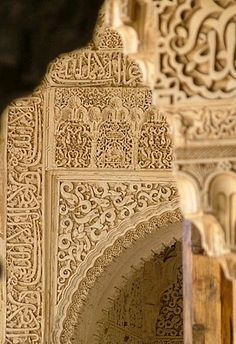 Alhambra (outside Granada, Spain) - natural color, pattern everywhere but light--I really want to see this one day. Islamic Architecture, Beautiful Architecture, Art And Architecture, Architecture Details, Islamic World, Islamic Art, Islamic Tiles, Granada Spain, Alhambra Spain