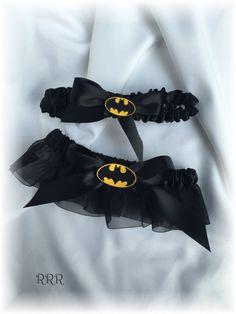 Batman Wedding Bridal Garter Set by RammaRuRu on Etsy