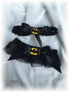 Batman Wedding Bridal Garter Set by RammaRuRu on Etsy
