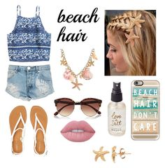 """""""Beach Hair !! """" by leslybeltran ❤ liked on Polyvore featuring beauty, Olivine, Lime Crime, One Teaspoon, Aéropostale, River Island, Casetify and beachhair"""