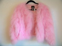 L 80s // 90s Pastel Pink Faux Fur Kawaii Soft door DaizyLemonade