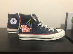 ff3b67d6970b80 Converse Infant Chuck Taylor All Star Hi Top - Navy Converse run size large.