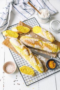 Knusprige, würzige Kurkuma-Baguettes · Eat this! Vegan Food & Lifestyle