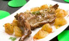 Karlos Arguiñano elabora una receta de conejo asado en el horno con patatas al pimentón. El horno es un buen aliado para cocinar sano y evitar las grasas.