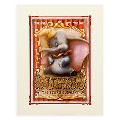 ''Dumbo Circus'' Deluxe Print by Darren Wilson | Posters & Prints | Disney Store