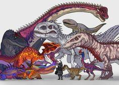 Dinosaur Drawing, Dinosaur Art, Jurassic World 3, Walking With Dinosaurs, Fantasy Art Landscapes, Cute Baby Dogs, Creature Concept Art, Fantasy Monster, Prehistoric Creatures