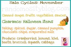 Months - Cycles to find things on sale in November