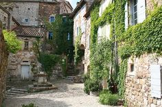 Naves, village of character in the Ardeche region, South of France