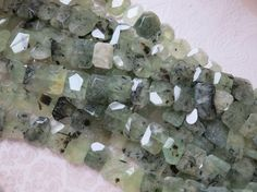 Prehnite Beads Gorgeous Medium to Large by SimplyAnnabella on Etsy