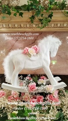 The Best top Carousel  table centerpieces for baby showers,Paper Mache supplies. We also sell all styles of Carosels & different Sizes. Call  732-714-1600  http://www.southbeachgifts.com/Carousel_Horses_Reproductions.htm https://www.pinterest.com/southbeachgifts/