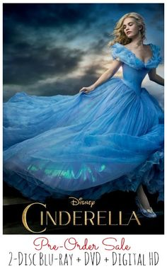 Cinderella Disney 2015 blu-ray and dvd sale, with FREE shipping options, preorder sale, have courage and be kind