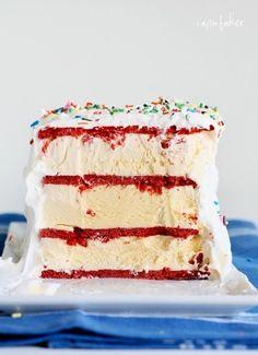 Red velvet cookie cake with cream cheese ICE CREAM