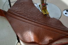 Tutorial for sewing with leather
