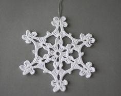 Crochet fiocco di neve bianco albero di SevisMagicalStitches