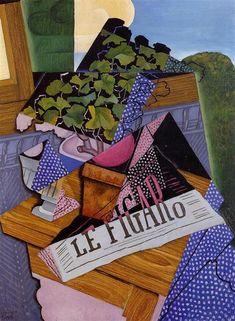 Juan Gris (1887 – 1927) pintor español, maestro del Cubismo. Una maceta de geranios.