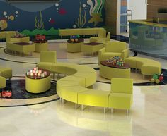 Evette lounge and reception seating from HPFi - High Point Furniture Industries
