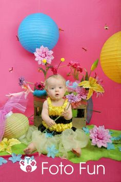 bumble bee little girl in Spring set