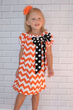 Halloween+Chevron+Dress+Orange+and+Black+Boutique+Clothing+By+Lucky+Lizzy%26%2339%3Bs