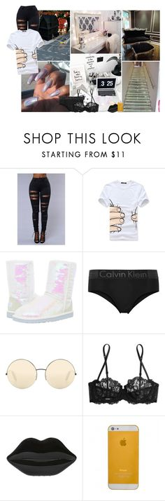 """""""intuition.."""" by tytanic ❤ liked on Polyvore featuring GET LOST, Golden Hook, UGG Australia, Calvin Klein Underwear, Victoria Beckham, La Perla and Lulu Guinness"""