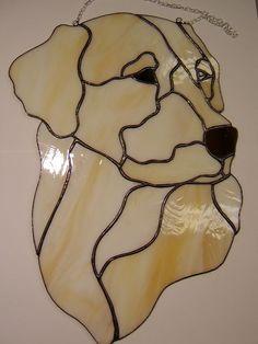 Tiffany Stained Glass Suncatcher - dog labrador retriever LOOKS LIKE MY LIBBY