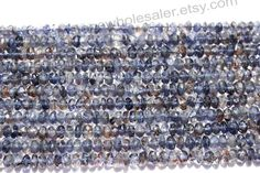 Iolite Faceted Roundel Quality B / A pack of by GemstoneWholesaler