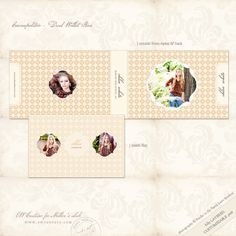 Cosmopolitan ~ Individual and Dual Wallet Boxes - Photographer Templates - Photographer Photoshop Templates and Marketing Materials