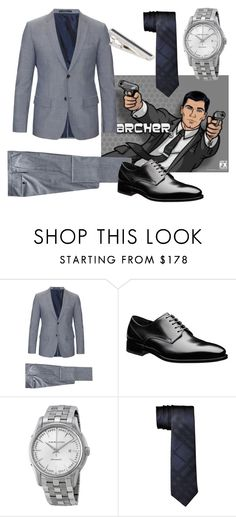 """Sterling Archer - Archer"" by magikate ❤ liked on Polyvore featuring Jil Sander, HUGO, men's fashion, menswear, fx, archer and SterlingArcher"
