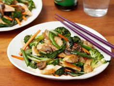 Get this all-star, easy-to-follow Chicken Stir-Fry recipe from Tyler Florence. Also, good base for improvising with the veggies.