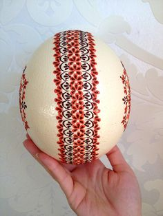 Ostrich Easter Egg decorated with Wax Traditional от VeryAndVery