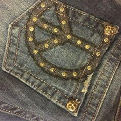 Peace MISS ME jeans These are new just washed one time. I had ten profesionally hemed to fit someone 5'4 to 5'6 Miss Me Jeans Straight Leg