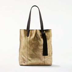 Buy AND/OR Shadi North / South Leather Tote Bag, Gold from our Handbags, Bags & Purses range at John Lewis & Partners. Christmas 2017, Xmas, North South, Soft Leather, Purses And Bags, Tote Bag, Handbags, Gold, Stuff To Buy