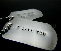 I Love You to the Moon and Back Dog Tag Necklace #handmade by @justByou  Available for purchase at #shopjustByou here: www.justByou.etsy.com (item: https://www.etsy.com/listing/150913636)