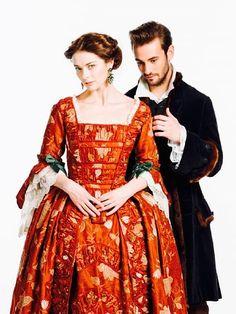 "Marina Aleksandrova as Catherine The Great and Rinal Mukhametov as Duke Segey Saltykov in ""Ekaterina"""
