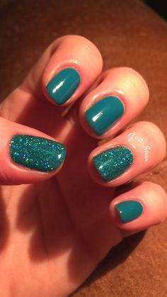 Nails teal nail designs, acrylic nail designs, homecoming nails, prom n Teal Nail Designs, Acrylic Nail Designs, Nails Design, Teal Nails, Fun Nails, Teal Nail Art, Teal Acrylic Nails, Hard Gel Nails, Nail Harmony