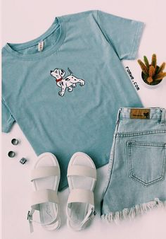 Cute T shirt - Blue Dog Print T-shirt from You can find Disney clothes and more on our website.Cute T shirt - Blue Dog Print T-shirt from Cute Disney Outfits, Disney World Outfits, Disney Themed Outfits, Disneyland Outfits, Komplette Outfits, Teenage Outfits, Teen Fashion Outfits, Cute Summer Outfits, Cute Casual Outfits