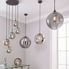 Alexis 5 Light Cluster Fitting Iridescent | Dunelm Iridescent, Ceiling Lights, Lighting, Pendant, Home Decor, Decoration Home, Room Decor, Hang Tags, Lights