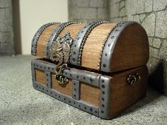 Miniature pirate treasure chest  by JoMed on Etsy