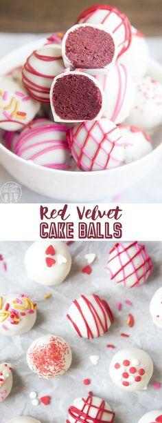 Red Velvet Cake Balls - Like Mother Like Daughter Red Velvet Cake Balls are easy to make with red velvet cake and your favorite cream cheese frosting. Dip them in white chocolate for a delicious bite sized treat! Cake Ball Recipes, Cake Recipes For Kids, Dessert Recipes, Party Recipes, Cupcake Recipes, Dessert Ideas, Yummy Recipes, Recipies, Red Velvet Cake Pops