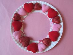 Puffy Heart Wreath