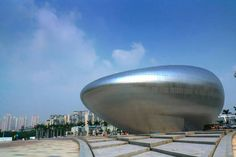 Oct Design Museum, Shenzhen / by Studio Pei-Zhu - Architecture List Parametric Architecture, Futuristic Architecture, Architecture Photo, Amazing Architecture, Contemporary Architecture, Public Architecture, Contemporary Art, Unusual Buildings, Amazing Buildings