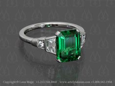Let's celebrate emerald being Pantone's color of the year with Leon Mege's green tsavorite ring.