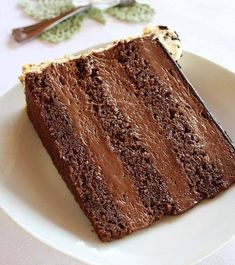 Take this double-layer cake to a third level of indulgence by serving with a dollop of double cream. Cupcake Recipes, Baking Recipes, Dessert Recipes, Baklava Cheesecake, Torte Recepti, Torte Cake, Sweet Cakes, Homemade Cakes, Cake Cookies