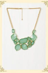 River Glass Necklace from Francesca's Collections. Just bought this....haha i have no self control.