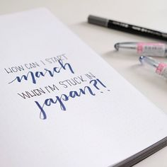 I go back to work on Monday I have markets to prep for. I have so much to do but I have no motivation to start March because my heart is still in Japan. What do you guys to get out of this funk? Pilot Pens, Back To Work, Japan Travel, Bujo, Minimal, March, Bullet Journal, How To Get, Calligraphy