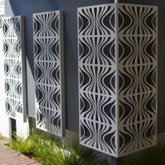 Retro - Metal Laser Cut Screens - Outdoor Screens & Wall Features - Watergarden Warehouse