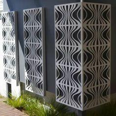 Retro - Metal Laser Cut Screens - Outdoor Screens  Wall Features - Watergarden Warehouse