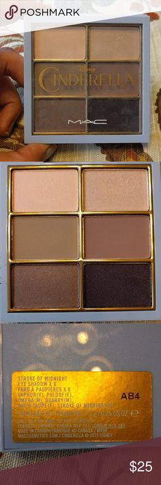 MAC Cinderella Eyeshadow Palette Top 2 colors swatched once. Pretty palette, I just haven't used it. MAC Cosmetics Makeup Eyeshadow