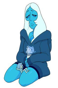 Diamante y perla azul