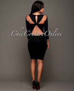 Chic Couture Online - Izzy Black Cut-Out Back Body-Con Dress.(http://www.chiccoutureonline.com/izzy-black-cut-out-back-body-con-dress/)